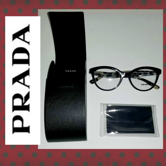8d0a31f14bf6 PRADA RX GLASSES TORTOISE W CASE  AUTHENTIC